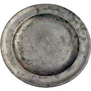 English Export George III Robert Bush & Co. Pewter Plate