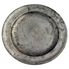 English Export George III Robert Bush & Co. Pewter Plate