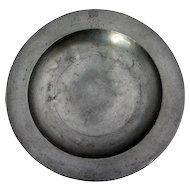 Rare English Thomas Alderson Pewter George IV Coronation Plate