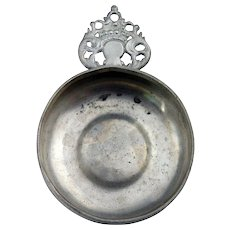 American New England Pewter Porringer