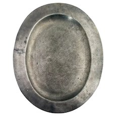 English George III Pewter Oval Platter