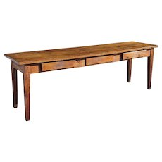 Long French Provincial Elm and Pine Long Farm Table