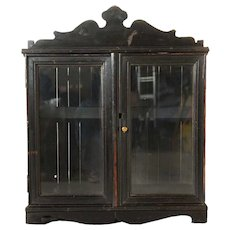 Anglo Indian Glazed Door Display Cabinet