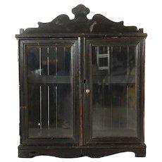 Anglo Indian Glazed Door Display Cabinet