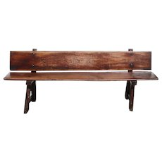Early Portuguese Chestnut Plank Bench