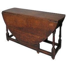 English George III Oak Gate-Leg Drop-Leaf Table