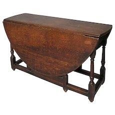 English George III Oak Gate-Leg Drop-Leaf Table
