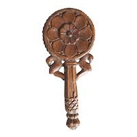 Small Indian Teak Hand Mirror Frame