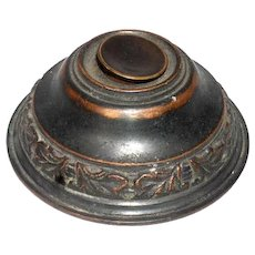 American Late Victorian Brass Electric Door Bell Push