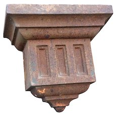 American Victorian Neoclassical Cast Iron Architectural Bracket