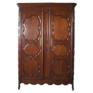 French Louis XV Style Oak Armoire