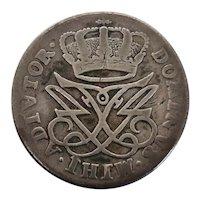 Danish Frederik IV 12 Skilling 1718 Silver Coin