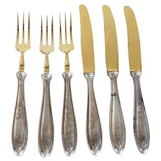 Six German WMF Silverplate Forks and Knives Flatware