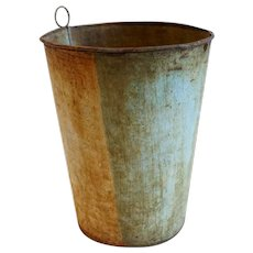 American Maine Toleware Maple Syrup Sap Bucket