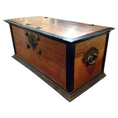 Large Dutch Colonial Satinwood and Ebony Blanket Chest