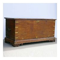 Large Anglo Indian Brass Mounted Jackfruit and Mahogany Blanket Chest