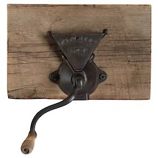 American Arcade Cast Iron and Wood Favorite No. 7 Wall Mount Coffee Grinder