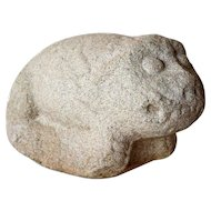 Chinese Limestone Architectural Fu-Lion Figure
