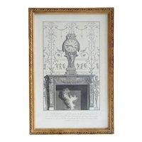 Giovanni Battista PIRANESI Engraving, Clock and Fireplace