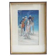 BERTHA BOYNTON LUM Color Woodblock, Three Wise Men