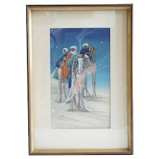 BERTHA BOYNTON LUM Color Woodblock, Three Wise Men