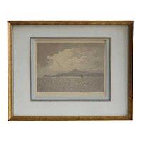 CLAUDE H. ROWBOTHAM Aquatint, Isle of Arran (Veiled Sunshine)