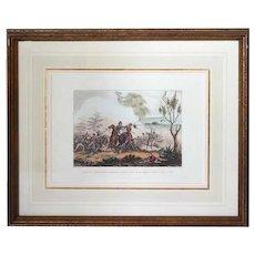 WILLIAM HEATH Aquatint Napoleonic Military Battle Scene