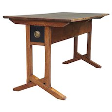 English Arts and Crafts Oak Library Table