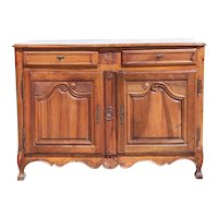 French Provincial Louis XV Walnut (Noyer Blonde) Buffet