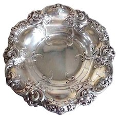Small Vintage American Gorham Sterling Silver 816 Floral Scroll Repousse Bowl