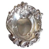 Small American Art Nouveau Sterling Silver Strawberry Bowl