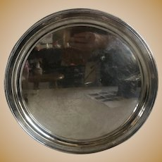Vintage American Wallace Sterling Silver Round Tray