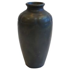 Small American Rookwood Arts and Crafts Black Glaze Pottery Vase