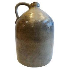 American Primitive Israel Seymour Stoneware Pottery Three-Gallon Jug