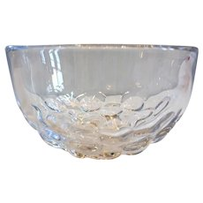 Vintage Swedish Sven Palmquist for Orrefors Mid Century Modern Clear Glass Bowl