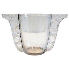 French R. Lalique Art Deco Glass Honfleur Vase