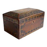 English Victorian Tunbridgeware Walnut Parquetry Desk / Jewelry Box