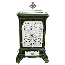 French Enameled Cast Iron Parlor Stove Cover