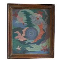 WALLY STRAUTIN Oil on Board Painting, Abstract