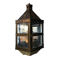 Dutch Copper Repousse Hanging Lantern