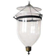 Anglo Indian Regency Style Glass Hall Lantern (Hundi)