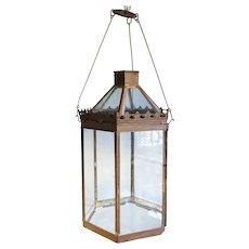 Anglo Indian Toleware Hexagonal Hanging Lantern