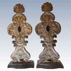 Rare Pair of Indo-Portuguese Silver Reliquaries