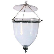 Large English Regency Style Glass Hall Lantern