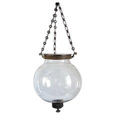 Small English Glass Globe Hall Lantern
