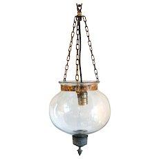 Small Anglo Indian Glass Globe One-Light Hall Lantern (Hundi)