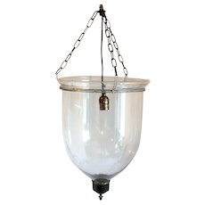 Anglo Indian Regency Style Glass One-Light Hall Lantern (Hundi)