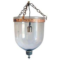Anglo Indian Regency Glass One-Light Hall Lantern (Hundi)