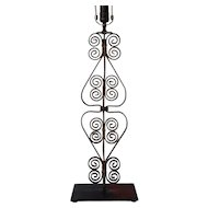 Victorian Forged Iron Architectural Baluster Table Lamp