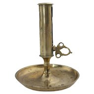 Continental Brass Push-Up Candlestick